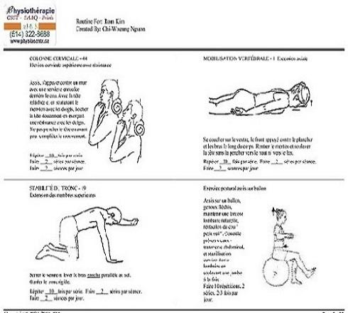 exercice cervical
